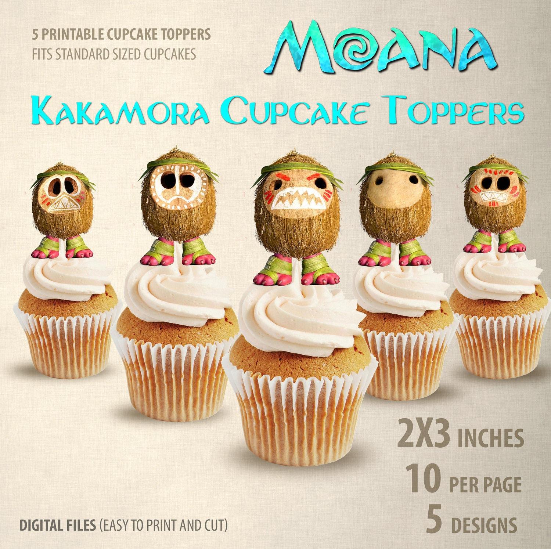 5 Printable Moana Cupcake Toppers-Kakamora by NikoLOVEArt ...