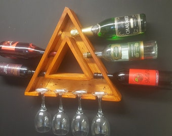 Triangle Wine and Glass display