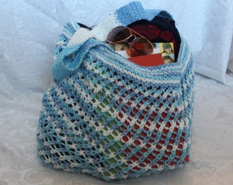 Beach bag/Market Bag - Blue