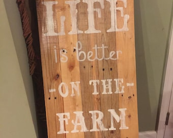 Reclaimed wood decorative sign