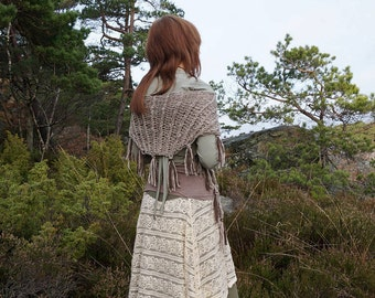 Light Brown Alpaca Shawl