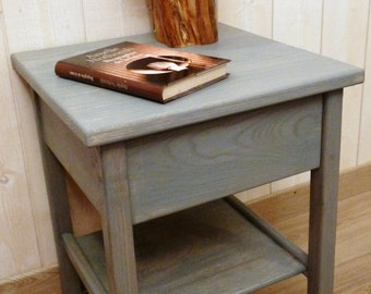 Bedside table 40 x 40 x 50 - ash grey