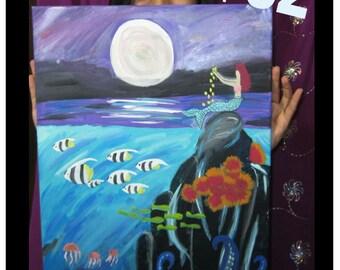 Mermaid at the Sea Painting