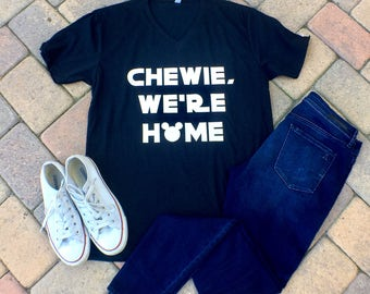 Chewie We're Home V Neck Tshirt