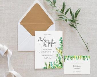 Printable Wedding Invite Set