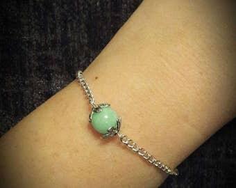 Single Gemstone chain Bracelet