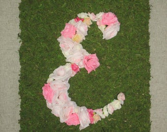 Coming Up Roses Custom Floral Letter