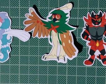 Gen 7 Starter Sticker Set