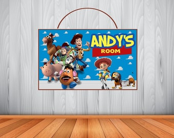 Personalized TOY STORY Sign, Toy Story Personalized Wooden Name Sign, Toy  Story Room Decor