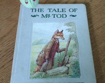 SALE Vintage Beatrix Potter Hardcover Book The Tale of Mr Tod 1950's