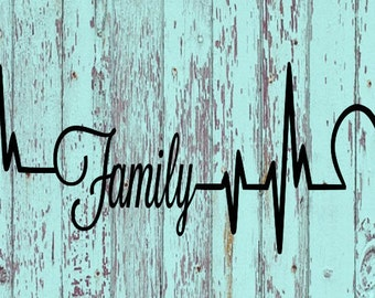 Family Heartbeat Decal