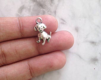 18 pcs unique charms for jewelry making, dog charm, animal charms, charms for necklace, charm packs, 16x10mm, jewelry supplies wholesale