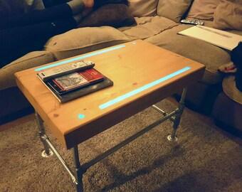 Industrial Reclaimed 'Glow in the dark' Coffee Table