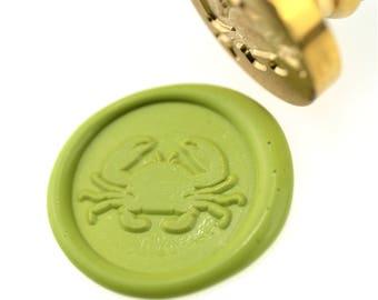 Crab Wax Seal Stamp/Wax sealing kit /