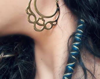 Hoops,Tribal earrings,Gypsy earrings,Etnic earrings,Bohemian,Boho hoops,lace hoops,golden hoop earrings,boho hoop,lace earrings,large hoops