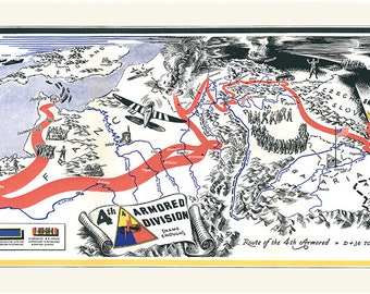 Th Armored Division Campaign Map The Black Cat Division - Us armor unit map