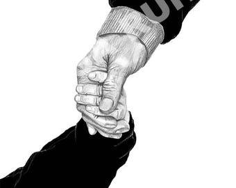 Safe, Trygg, Holding hands