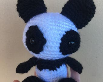 Crochet Amigurumi Panda with customised letter