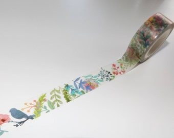 1m Woods magic world Washitape Maskingtape flowers flower Bird Bird