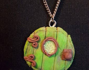 Green fairy Door Necklace