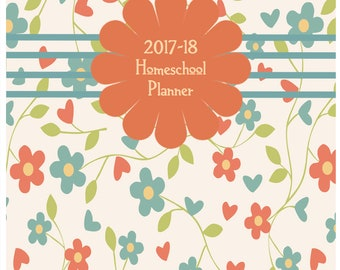 Homeschool Planner with a vintage feel 2017-2018 So cute!