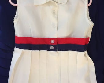 Vintage 1950 Baby Classic Preppy  Tennis Dress