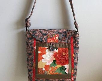 Vintage Obi and Kimono Fabric Shoulder Bag