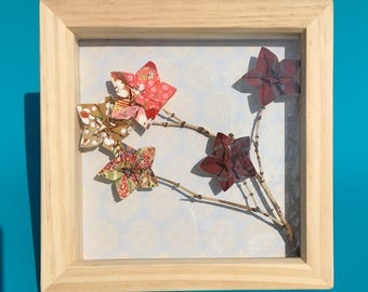 Origami Box Frame Blossom on Branch