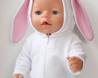 Bunny suit, BabyBorn, doll, clothes doll, for baby born doll, 43 sm doll, overalls