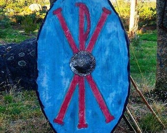 Late roman oval shield