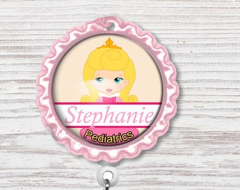 Princess Nurse Badge Reel | Nurse Bottle Cap Badge Reel |Badge Reel | Bottle Cap Retractable Badge Reel | Nurse Badge Reel