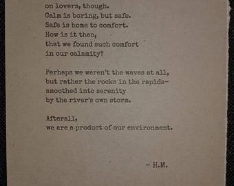 The Rapids - Poem by H.M.