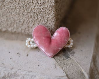 Pink heart cute barrettes