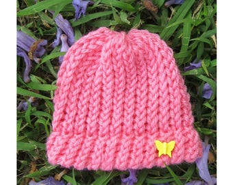 Baby Girl's Classic Pink Hat