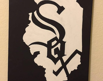 White Sox painted canvas