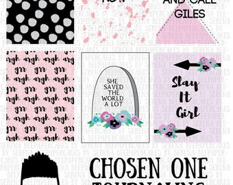 Chosen One, Buffy Digital Journaling Cards, Scrapbooking, Printables