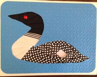 Iris Folding Loon Greeting Card