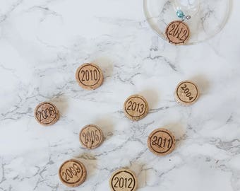 Cork Wine Glass Charms kit | Do it yourself | Set of 8