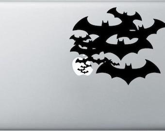Batman decal black for apple macbook