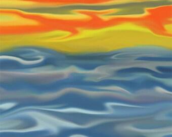 Wall Art Canvas Tropical Steamy Seas Digital Art Ready to Hang