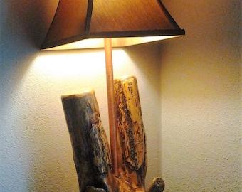 Log Cabin Lamp