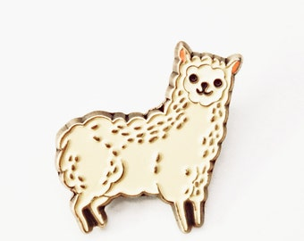 Enamel Pin - Alpaca Pin Llama Pin Llama Enamel Pin Alpaca Enamel Pin, Kawaii Llama Pin, Animal Enamel Pin Patches and Pins, kawaii cute pins