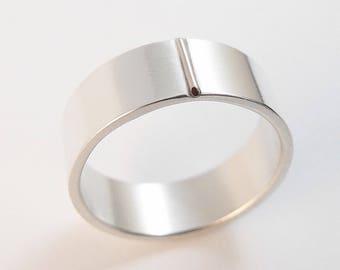 Men's Wedding Band Sterling Silver Modern Men's Wedding Ring Rose Gold, Wedding Band, Wedding Ring, Women's Wedding Band, Plain Wedding Band