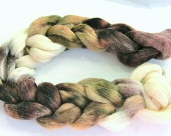 Roving Corriedale Blend 100% Wool colorway, Forest Floor!