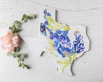 Texas Home Decor. Texas.  Texas Home Sign. Texas Bluebonnet. Bluebonnet Art. Texas Decor. Housewarming Gift. Texas Sign.