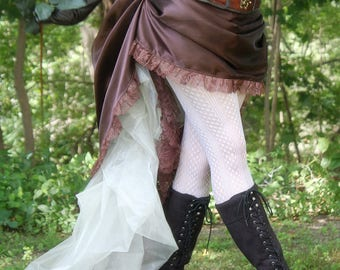 Gaslight Pinup Steampunk Skirt or Costume - Ready to Ship