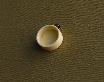 "Deep pendant blank setting finished hardwood - Holywood - 1"" - 25.5 mm cavity - Brass Tube Bail - (Z25d-H)"