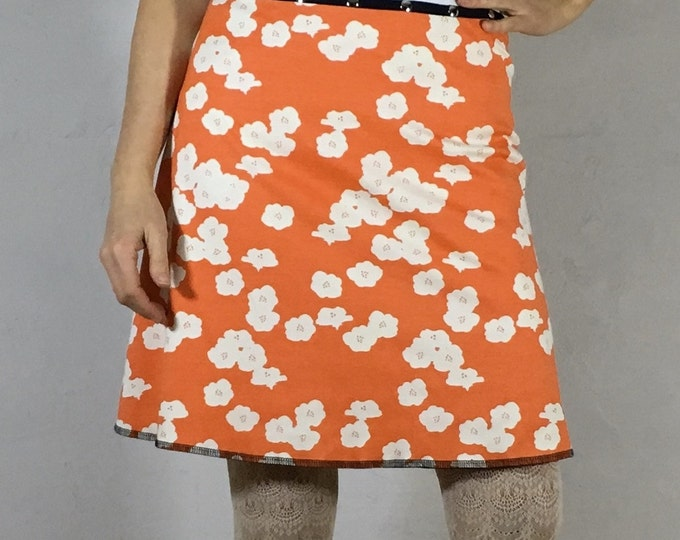 Organic Coral Blossom Snap Around Skirt by Erin MacLeod