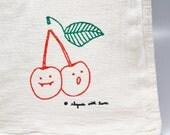 Cherry Kitchen Towel, Luke & Lorelai Gilmore Girls Cherries Fanged Fruit