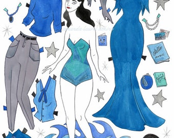 Ophelia the Opera Singer paper doll